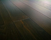 Однополосная Паркетная доска Дуб дымчатый темный структур Terhurne планк 2190х162х13мм мат лак