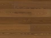 Паркетная доска Ясень коричневый Terhurne планк браш мат лак 2390х200х13мм ИзиКлик