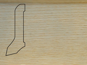 Плинтус Дуб деревянный напольный СПБ шпонированный La San Marco Profili 60/22мм Арктик