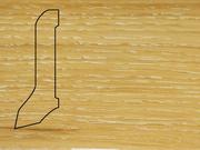 Плинтус Дуб деревянный напольный СПБ шпонированный La San Marco Profili 60/22мм Беленый