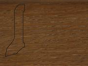 Плинтус Дуб деревянный напольный СПБ шпонированный La San Marco Profili 60/22мм Коньяк