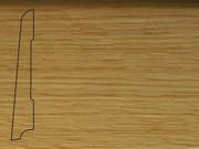 Плинтус Дуб деревянный напольный СПБ шпонированный La San Marco Profili 80/16мм