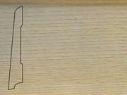 Плинтус Дуб деревянный напольный СПБ шпонированный La San Marco Profili 80/16мм Арктик