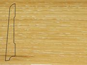 Плинтус Дуб деревянный напольный СПБ шпонированный La San Marco Profili 80/16мм Беленый