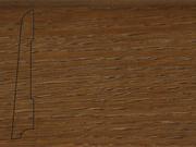 Плинтус Дуб деревянный напольный СПБ шпонированный La San Marco Profili 80/16мм Коньяк