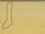 Плинтус Ясень деревянный напольный СПБ шпонированный La San Marco Profili 60/22мм