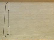 Плинтус Ясень деревянный напольный СПБ шпонированный La San Marco Profili 80/16мм Арктик