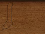 Плинтус деревянный напольный СПБ шпонированный La San Marco Profili 60/22мм Ироко