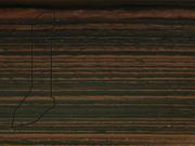 Плинтус деревянный напольный СПБ шпонированный La San Marco Profili 60/22мм Макасар
