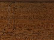 Плинтус деревянный напольный СПБ шпонированный La San Marco Profili 60/22мм Мербау