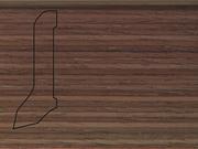 Плинтус деревянный напольный СПБ шпонированный La San Marco Profili 60/22мм Орех Американский