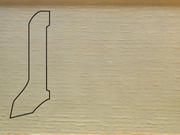 Плинтус деревянный напольный СПБ шпонированный La San Marco Profili 60/22мм Ясень Арктик