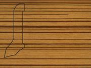 Плинтус деревянный напольный СПБ шпонированный La San Marco Profili 60/22мм Зебрано