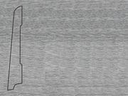 Плинтус деревянный напольный СПБ шпонированный La San Marco Profili 80/16мм Алюминий