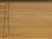 Плинтус деревянный напольный СПБ шпонированный La San Marco Profili 80/16мм Бамбук Кофе