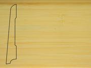 Плинтус деревянный напольный СПБ шпонированный La San Marco Profili 80/16мм Бамбук Натур