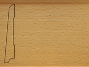 Плинтус деревянный напольный СПБ шпонированный La San Marco Profili 80/16мм Бук Пропаренный
