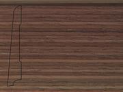 Плинтус деревянный напольный СПБ шпонированный La San Marco Profili 80/16мм Орех Американский