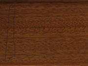 Плинтус деревянный напольный СПБ шпонированный La San Marco Profili 80/16мм Сапели