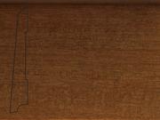 Плинтус деревянный напольный СПБ шпонированный La San Marco Profili 80/16мм Танганика