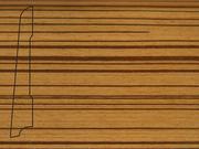 Плинтус деревянный напольный СПБ шпонированный La San Marco Profili 80/16мм Зебрано