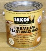 Масло с твердым воском Saicos для дерева Hartwachsol Premium быстросохнущее в Ассорт.